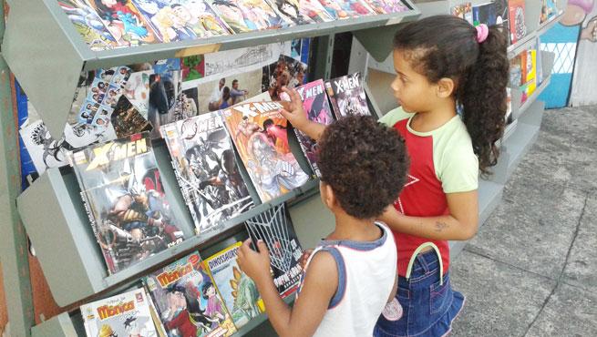 Com acervo diversificado, bibliotecas buscam chamar a atenção de leitores de todas as idades (Foto: Reprodução)