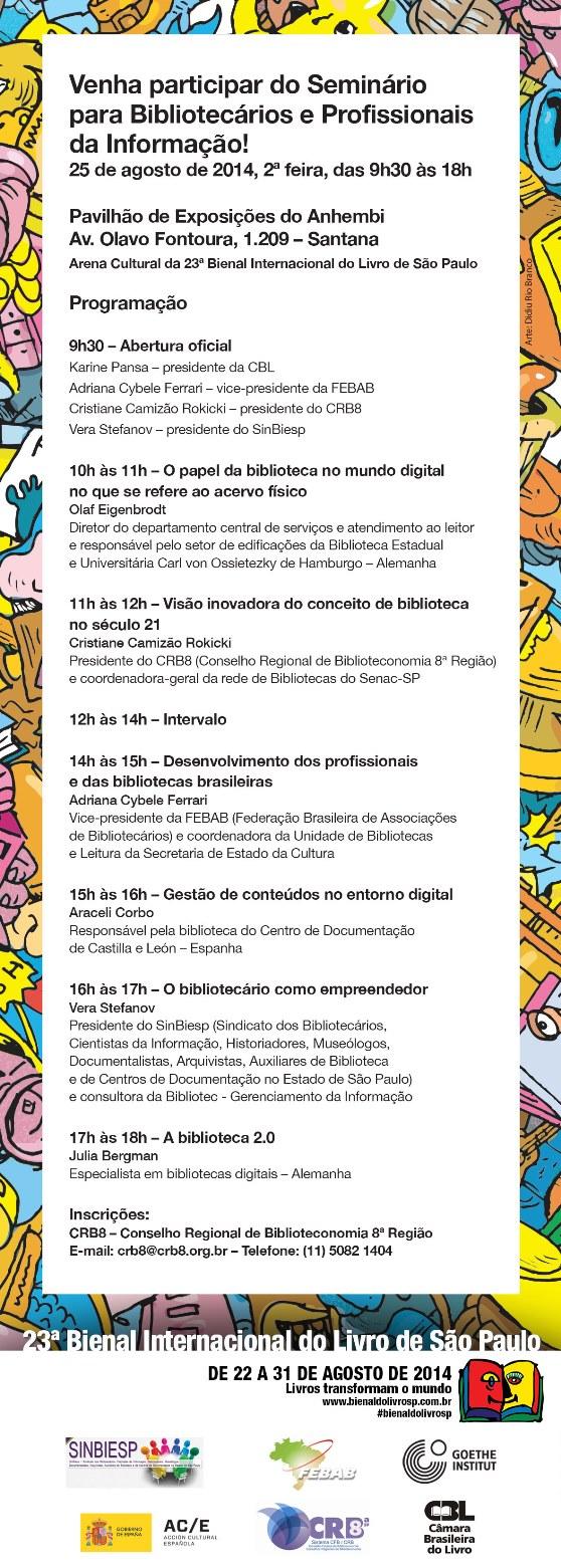 Bienal do Livro Seminário para Bibliotecários e Profissionais da Informação