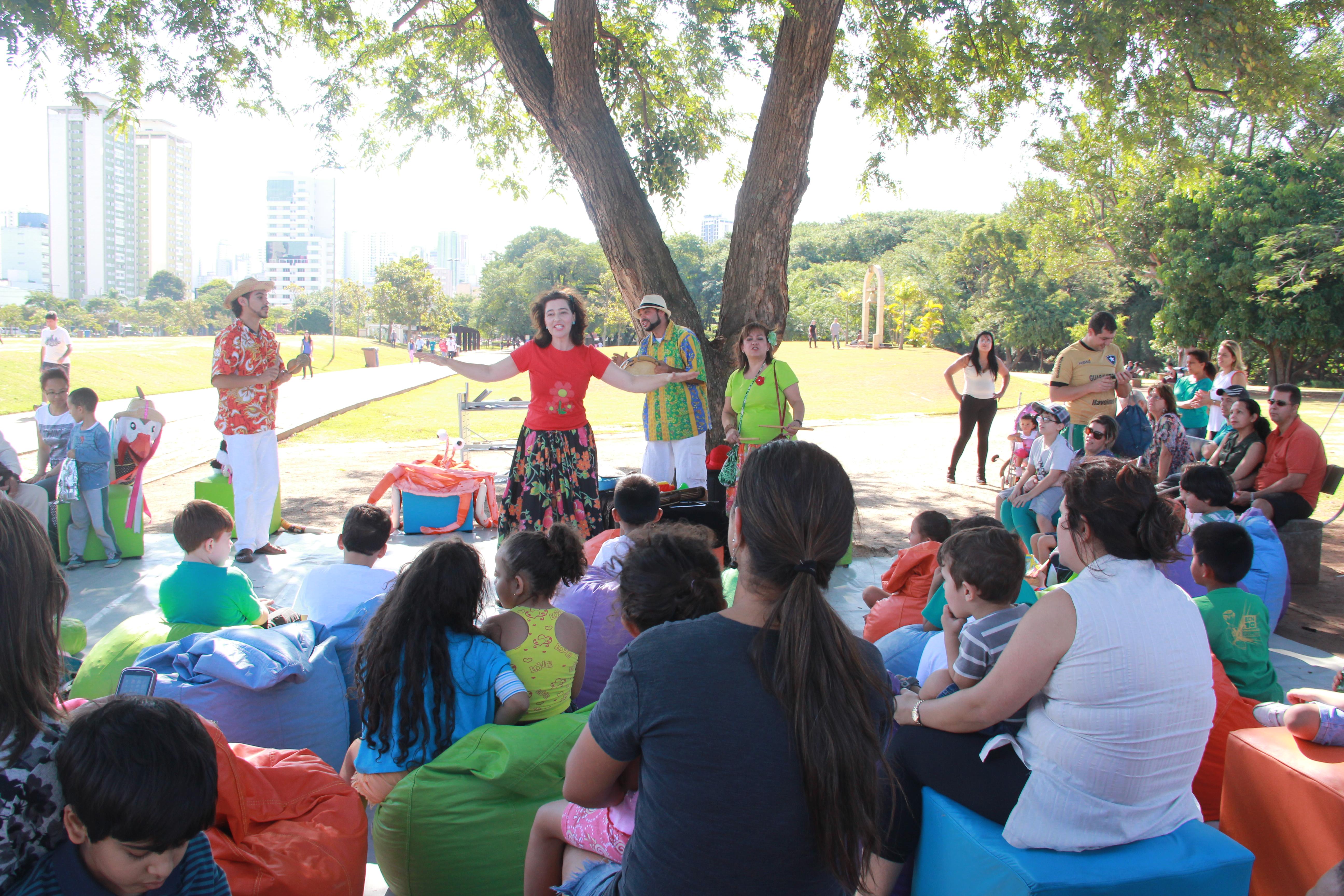 Contação no Villa-Lobos (Foto: Divulgação)
