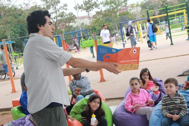 Atividades que estimulam a leitura no Parque da Juventude (Foto: Divulgação)