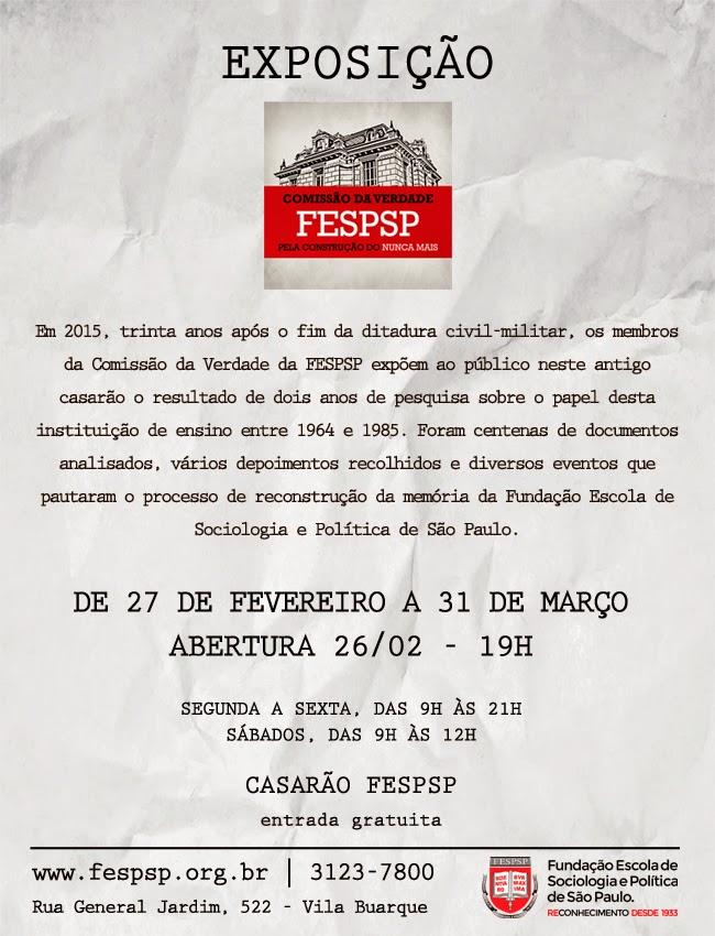 Exposição Comissão da Verdade da FESPSP