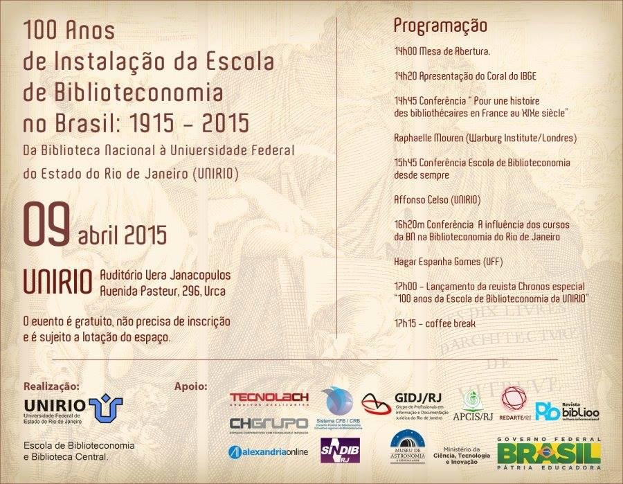Centenário da Escola de Biblioteconomia no Brasil