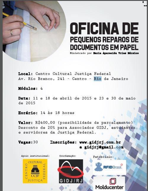 Oficina de Pequenos Reparos de Documentos em Papel