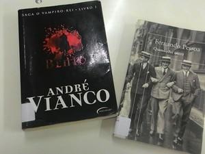 Livros recuperados em sebos após denúncias (Foto: BCA/Divulgação)