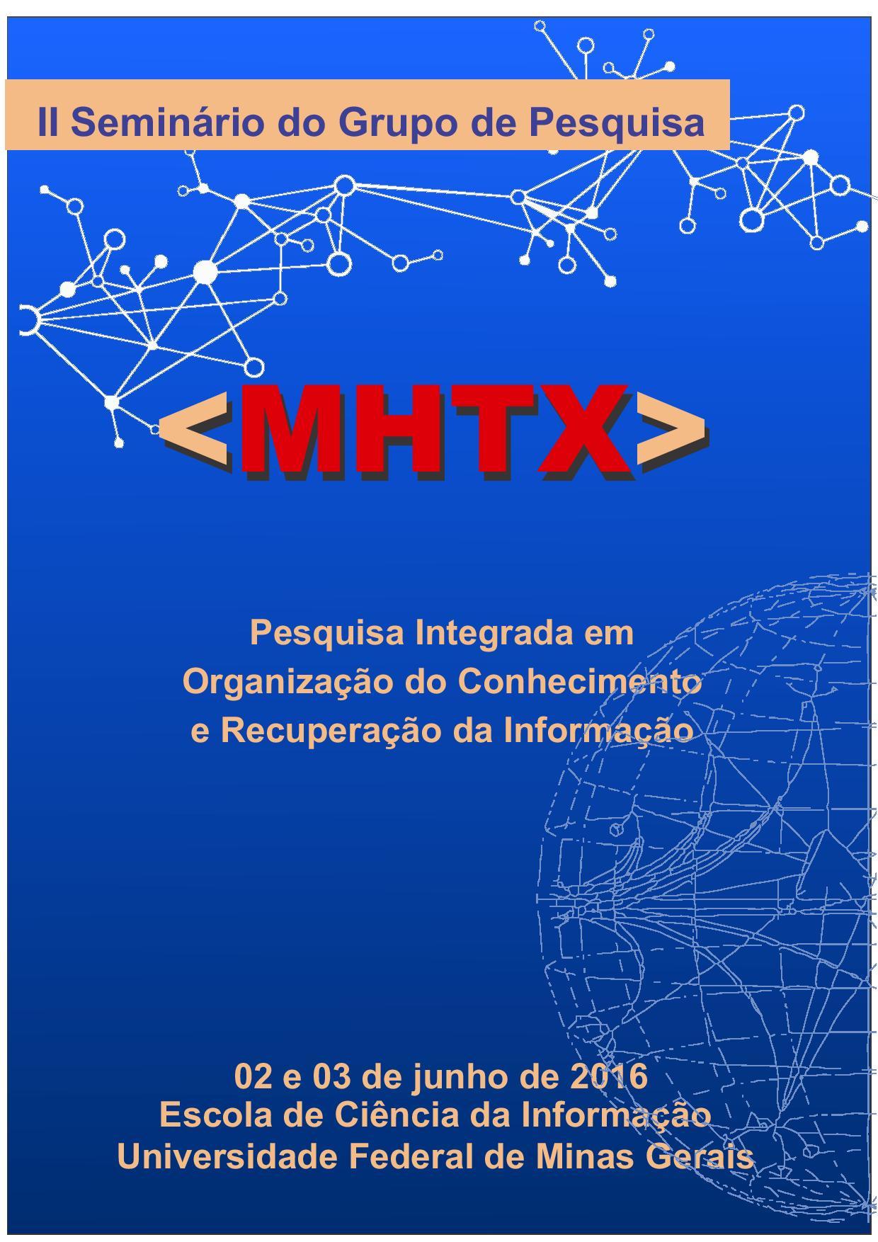II Seminário do Grupo de Pesquisa MHTX