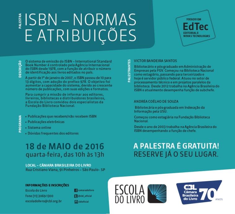 ISBN Normas e Atribuições