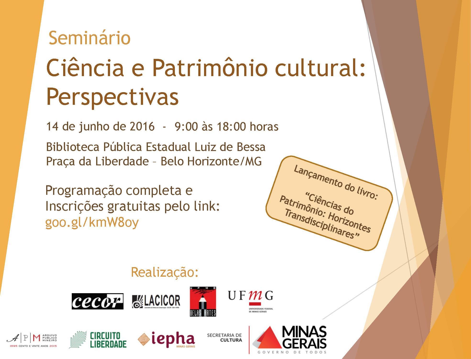 Seminário Ciência e Patrimônio Cultural Perspectivas