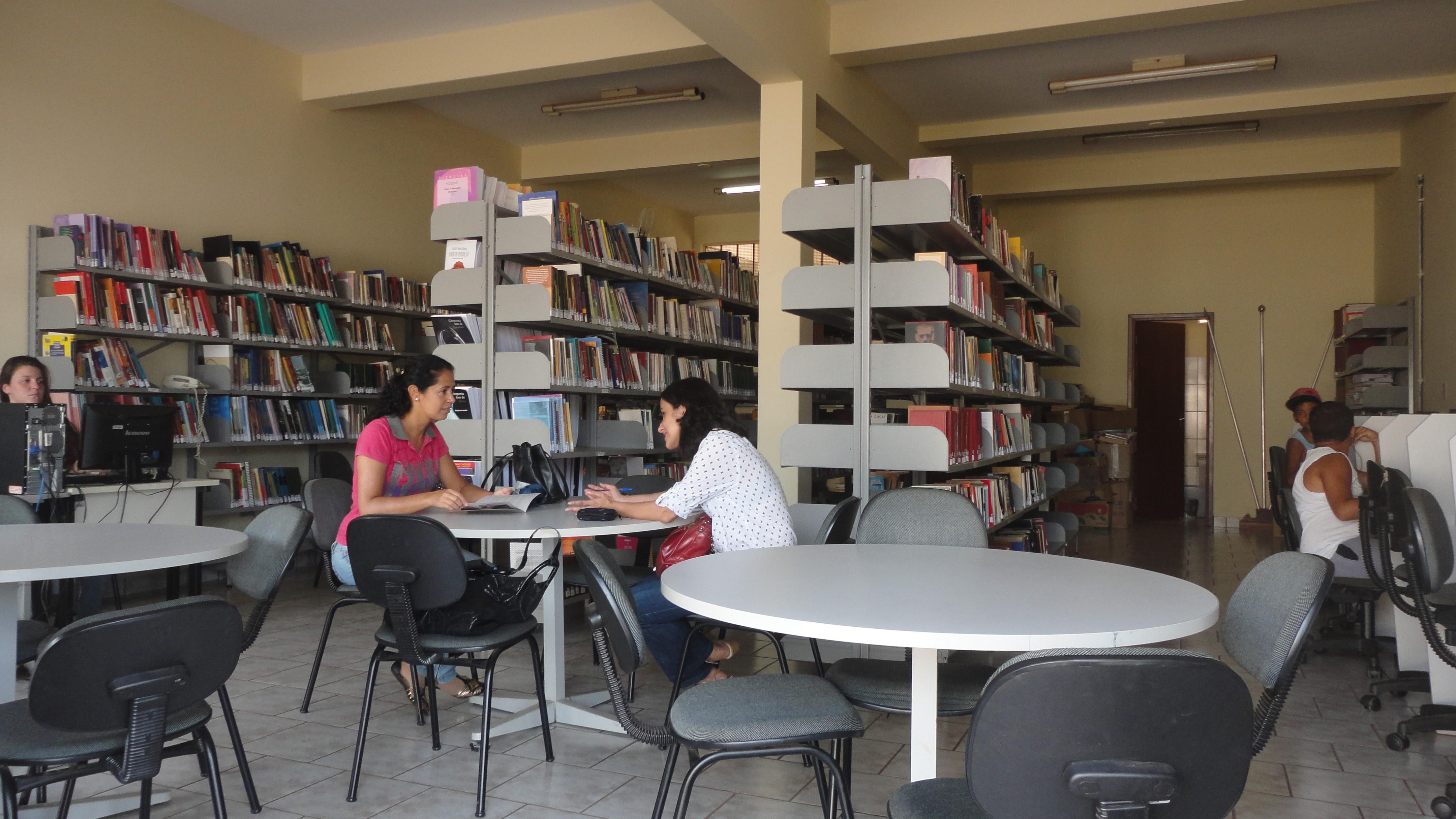 Visita técnica realizada na biblioteca pública de Pimenta (MG), em 2016 (Foto: Sistema Estadual de Bibliotecas Públicas Municipais)